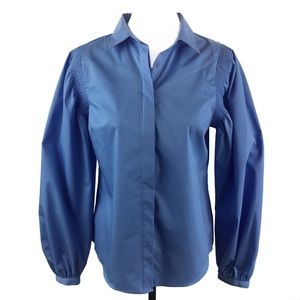 WORTHINGTON   Swiss Blue Button Down Top Small NWT